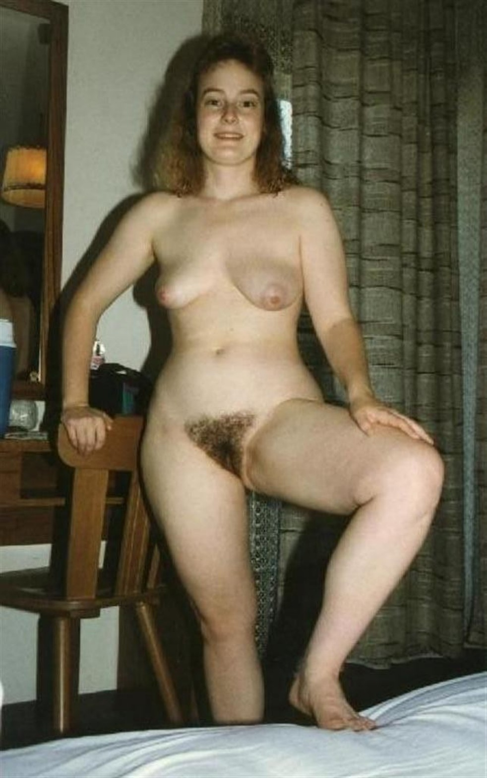 Bottomless hairy pussy flash