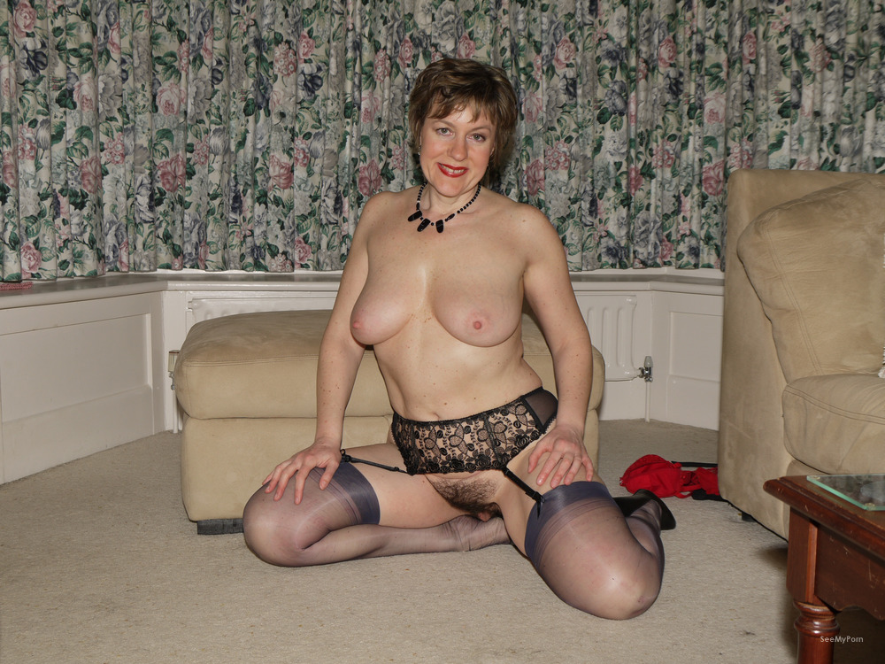 Hairy wives posing nude