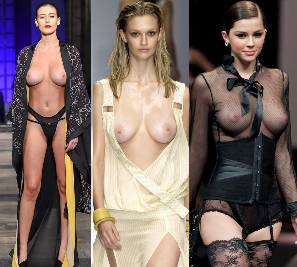 Fashion runway models nude