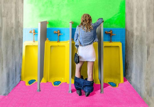 Peeing standing up free movies