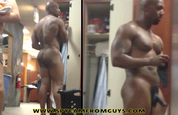 Black man locker room naked