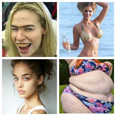Ugly face hot body girls