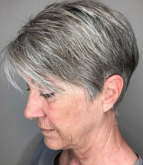 Very short hairstyles older women