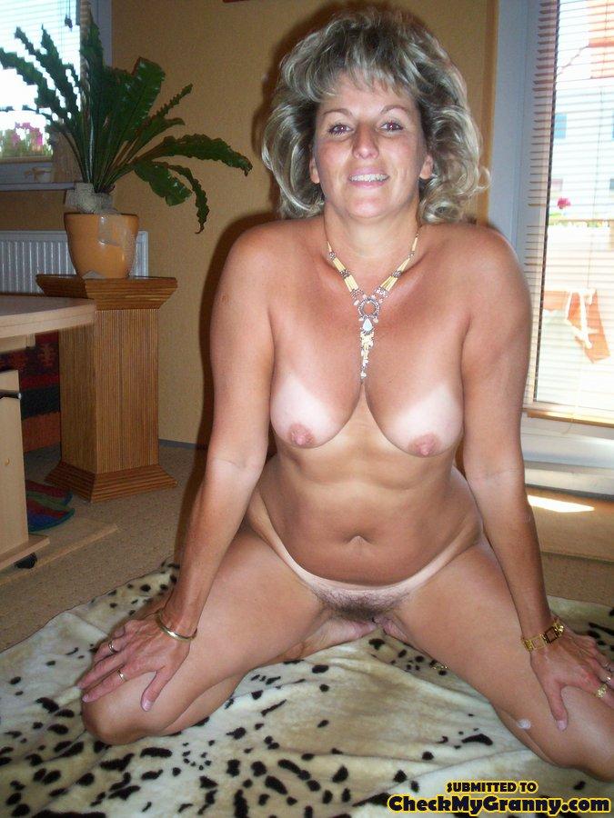 Gray hair granny tits
