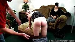 Public bare ass spanking