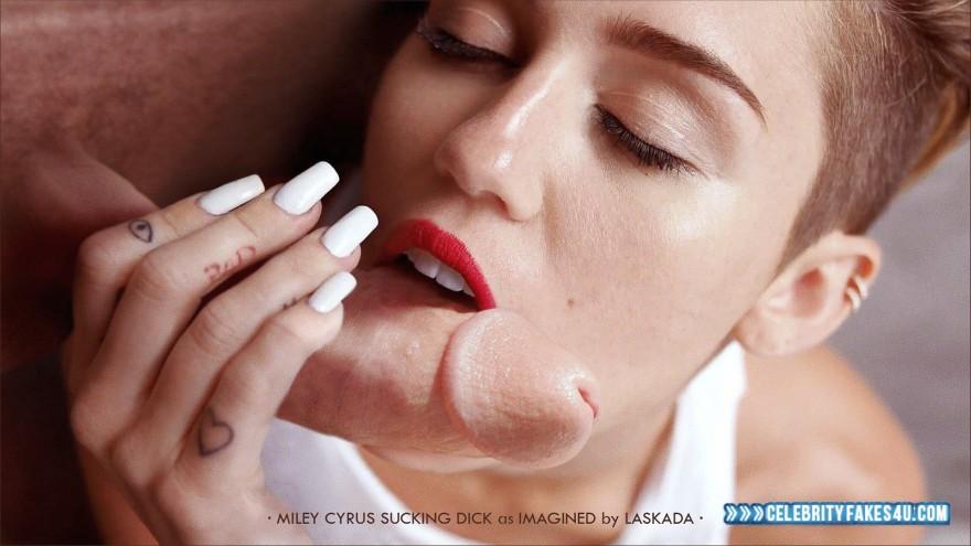 Miley cyrus fake blowjob
